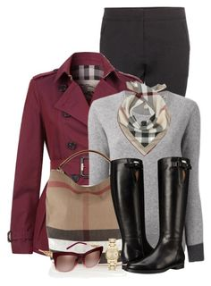 """It's a Burberry Kind of Day!"" by brendariley-1 ❤ liked on Polyvore featuring Burberry"