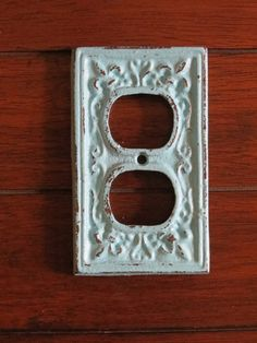 Decorative Electrical Outlet Plate /Aqua Blue by VeritasInspired, $9.99
