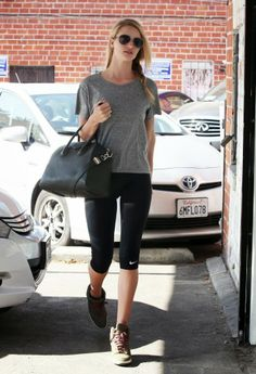 Celeb Diary: Rosie Huntington-Whiteley leaving the gym in Los Angeles