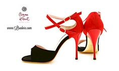 Buy Comme il Faut Shoes Exclusive Handmade Argentina Tango Shoes. Worlds Finest Collection of High Heel Comme il Faut Shoes Available at www.Lisadore.com   Red Black Suede