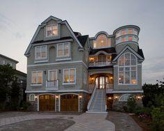 Gorgeous beach Exterior design by Philadelphia Interior Designer Bruce Palmer Interior Design