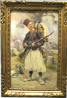 A Zouave soldier in the field