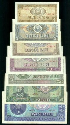 Full SET 1966 banknotes & 100 Lei Ceausescu era Romania note in Coins & Paper Money, Paper Money: World, Europe History Of Romania, Romania People, Romania Map, Socialist State, Socialism, Money Notes, Central And Eastern Europe, Gold Money, Old Coins