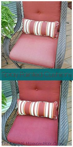 DIY Saturday: Spray Paint Those Old Faded Outdoor Cushions