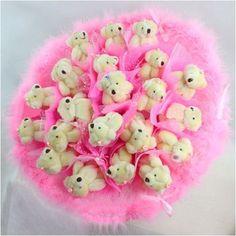 Forever Love Flower Bouquet of Dolls, 21 Teddy Bears by Youyouhuayu, http://www.amazon.com/dp/B0032RKHY2/ref=cm_sw_r_pi_dp_Nlg2pb17QR6DR
