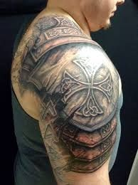 Image result for armor tattoo on shoulder