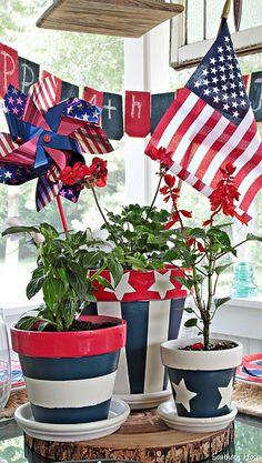 patriotic centerpiece....