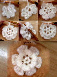 crochet flower pattern (6)                                                                                                                                                                                 Más