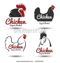 Labels and badges set of chicken meat and eggs,vector illustration