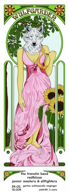 "Plakat ""Wulfgarden"" | 2017 Graphics, Anime, Art, Poster, Art Background, Graphic Design, Kunst, Cartoon Movies, Printmaking"