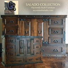 New Hacienda Style Furniture just arrived. See the entire collection online. accentsofsalado.com ONLINE SHOPPING