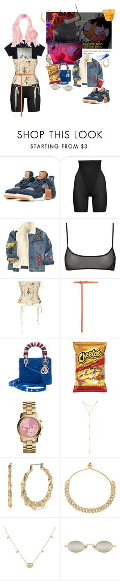 """Kylie jenner"" by letmestyleriri ❤ liked on Polyvore featuring SPANX, Gucci, Jean-Paul Gaultier, Oscar de la Renta, Christian Dior, Michael Kors, Fragments and Betsey Johnson"