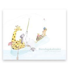 Bursdagskalender med dyremotiv som kan brukes år etter år. Du vil aldri glemme en bursdag! Juliette, My Drawings, Illustration, Cards, Baby, Animals, Animales, Animaux, Illustrations