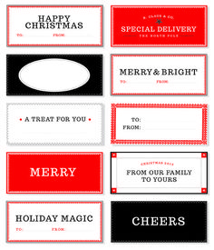 Love these printable holiday gift tags! #holiday #printable #wrapping