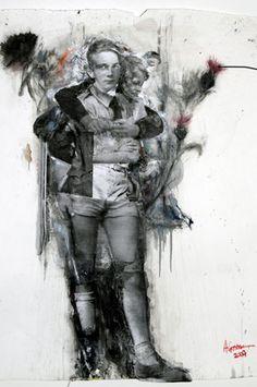 Angela Grossmann - use of photo transfers and paint