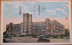 1922-Postcard-High-School-Atlantic-City-New-Jersey-NJ