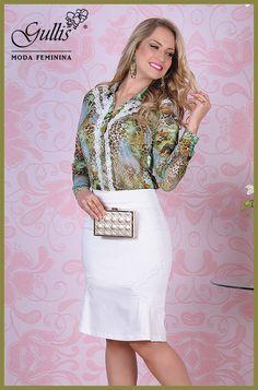 Conjunto camisa em malha crepe estampada com detalhe em renda e saia em cotton - Kauly: http://www.gullislingerie.com.br/primavera-verao-2016-conjunto-camisa-malha-crepe-estampada-detalhe-renda-saia-cotton-kauly