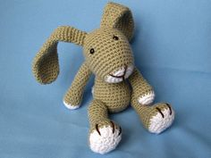 Little Bunny Simon Crochet Pattern / PDF eBook by DioneDesign