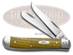 CASE XX Bois D' Arc Wood Mini Trapper Stainless 1/125 Pocket Knife - CA28991 | 28991 - 21205289915