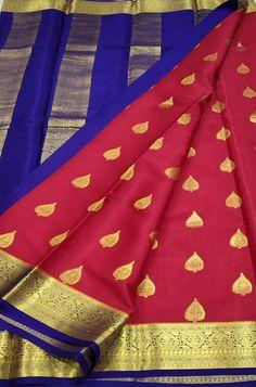 Pink Handloom Mysore Crepe ... Crepe Silk Sarees, Silk Crepe, Pink Fabric, Woven Fabric, Mysore Silk Saree, Color Schemes, Lady, Clothes, R Color Palette