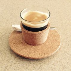 GOOD MORNING with CorkCoffee #coffee #cork #coffeecup #cup #glass #tablepieces #design #minimal
