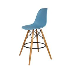amazoncom mid century modern eames dsw style counter bar stool with dowel wood - Amazon Bar Stools
