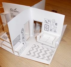 This would be a good technique to introduce for a major project concerning the art of design. - Art DECO Design Eames Good Introduce learning major project specifically technique - DiyForYou Paper Doll House, Paper Houses, Paper Dolls, Diy Arts And Crafts, Paper Crafts, Diy For Kids, Crafts For Kids, Printable Crafts, Printable Paper