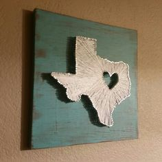 Texas string art wooden stained boarded with red white and blue texas string art prinsesfo Image collections