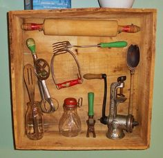 My vintage kitchen tool display. | Antique n' Primitive Stuff