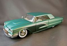 Hobby Town, Plastic Model Cars, Custom Paint Jobs, Ford Thunderbird, Diecast Model Cars, Kit Cars, Kustom, Scale Models, Hot Rods