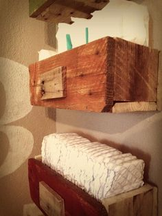 Obviously not with diapers for a playroom, but I like the rustic shelves.