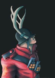 Soldier (Jane Doe) - Team Fortress 2 - Fanart