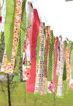 diy fabric scrap garland