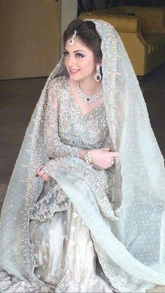 Just Beautiful Classic Pakistani Bride# Pakistani Beauty# Pakistani Wedding Outfits, Pakistani Wedding Dresses, Pakistani Dress Design, Bridal Outfits, Indian Dresses, Pakistani Couture, Wedding Hijab, Desi Wedding, Gold Wedding