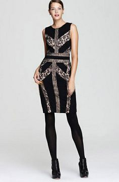 Morpheus Boutique  - Black Pattern Color Block Sleeveless Celebrity Pencil Dress, CA$112.81 (http://www.morpheusboutique.com/black-pattern-color-block-sleeveless-celebrity-pencil-dress/)