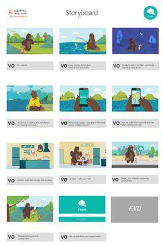 Storyboard for Casper Explainer Video with Illustrations Full video: https://vimeo.com/163905407  Looking for explainer video? Please visit: www.eleopard.in