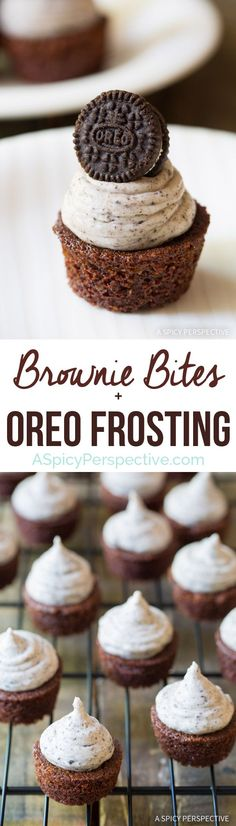 Easy to Make Brownie Bites with Oreo Frosting! Great for parties!!