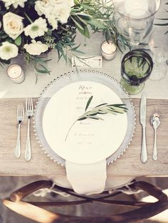 Beautiful green, burlap, and silver combination