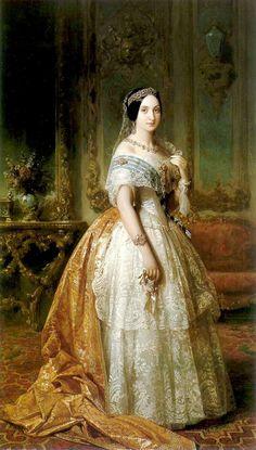 Infanta Luisa Fernanda. Obra de Federico de Madrazo y Kuntz
