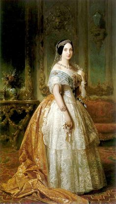 Infanta Luisa Fernanda | Federico de Madrazo, Spanish writer and artist (Rome, 1815 - Madrid, 1894) || Portrait