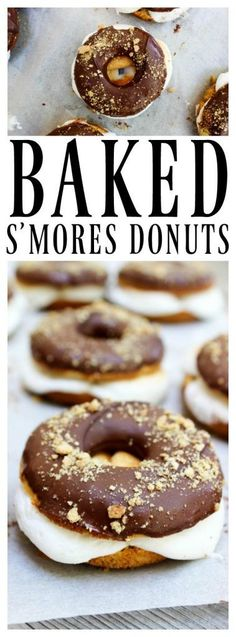 Baked Smores Donuts 17 130 The post Baked Smores Donuts A Dash of Sanity appeared first on Dessert Platinum. Easy Desserts, Delicious Desserts, Dessert Recipes, Yummy Food, Delicious Donuts, Sweet Desserts, Jambalaya, Beignets, Baked Smores