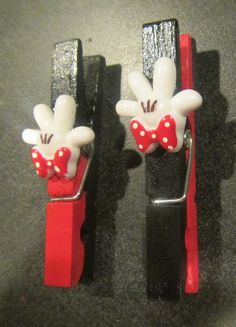 Fish extender for moms. Magnetic Mickey Mouse or Minnie Mouse Clothespins GREAT fish extender gift on Etsy, $1.00