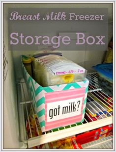 Simple DIY breast milk freezer storage box - customize to your taste, and keep everything in its place!