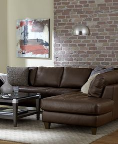 Milano Leather Living Room Furniture Sets & Pieces - Macy's