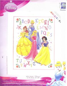 Disney princesses - Free cross stitch pattern