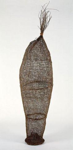 Mandjabu (conical fish trap), Western Arnhem Land 1985 by Anchor Kulunba (c 1917 - 1996), Kuninjku language group. NSW Art Gallery