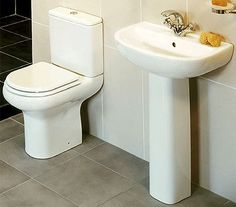 Compact 1 Tap Bathroom Suite,£240.95, BetterBathrooms.com