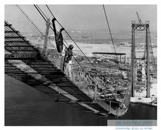 Building the Vincent Thomas Bridge.  No more ferries to terminal island.  They sure were a fun part of our family Sunday drives.