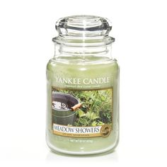 Meadow Showers Yankee Candle Company Large Jar Candles - Daydreaming of a quiet escape. the naturally tranquil and airy scent of fresh raindrops on blades of green grass. Yankee Candle Scents, Yankee Candles, Candle Accessories, Candle Diffuser, Scented Candles, Jar Candles, Candels, Funny Candles, Thing 1
