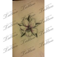 Small Tattoo Remembrance/Hope | star/almond blossom (hope) #67068 | CreateMyTattoo.com